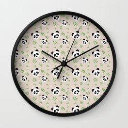 Panda bear background Wall Clock