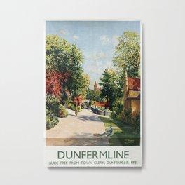 Dunfermline Vintage Travel Poster Metal Print