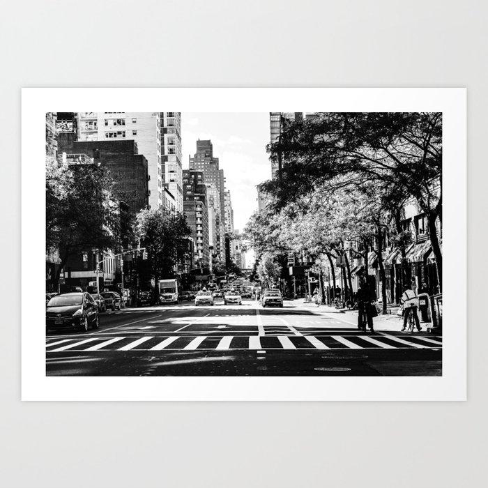 New York City Streets Contrast Kunstdrucke