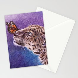 Leopard and Butterfly Stationery Cards