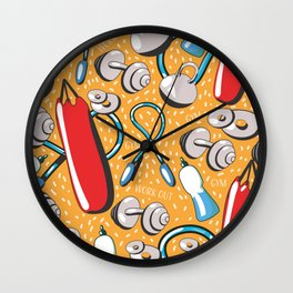 Exercise pattern Wall Clock