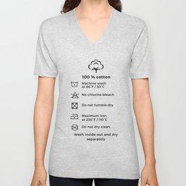 100% Cotton | Laundry Label Unisex V-Neck