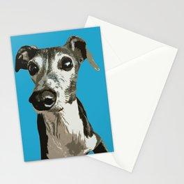 Italian greyhound pop art Stationery Cards