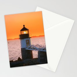 Marshall Point at Golden Hours Stationery Cards