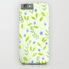 Delicate Floral Pattern | Green iPhone Case