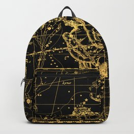 Gemini Constellation, Astronomy, Astrology, Zodiac, Vintage Engraving Map Backpack