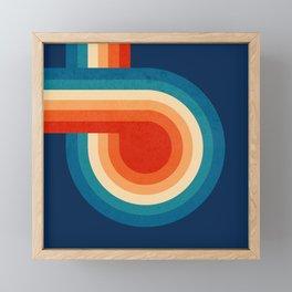 RETRO VIBES - 70's colorful stripes Framed Mini Art Print