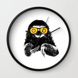 Pride Sloth Intersex Flag Sunglasses Wall Clock