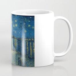 Van Gogh, Starry Night Over The Rhone Artwork Reproduction, Posters, Tshirts, Prints, Bags, Men, Wom Coffee Mug