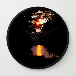 Hidden Lake Sunset Wall Clock