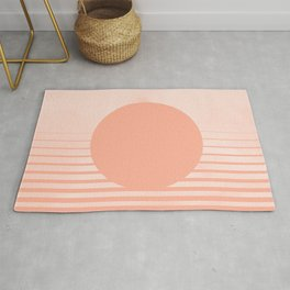 The Sweet Life Collection - Peach Coral Sun Gradient Rug