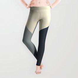 Origami Geo Tile // Gray monochrome Leggings