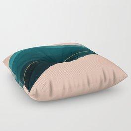 California Watercolor Winter Floor Pillow