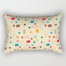Atomic Pattern Beige Red  #midcenturymodern Rectangular Pillow