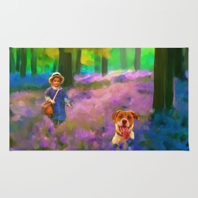 A Boy And His Dog Area Rug by Donnadavisart RUG7882939