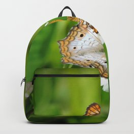 The butterfly,the bee and the flower Backpack
