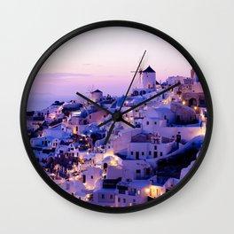 Santorini Night Wall Clock