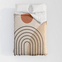 Abstraction_NEW_SUN_DAWN_MOUNTAINS_LINE_POP_ART_008B Comforters
