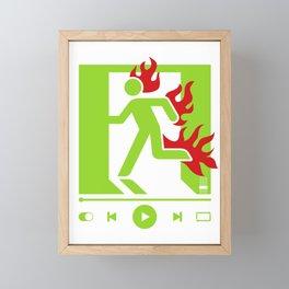 CRISIS Framed Mini Art Print