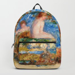Pierre-Auguste Renoir - Naked Boys In The Rocks In Guernsey - Digital Remastered Edition Backpack