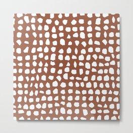 Stones // Terracotta Metal Print