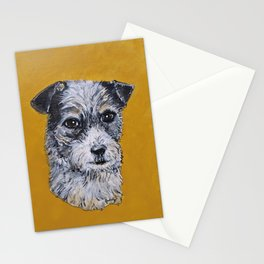 Terrier Mix Dog Portrait Stationery Cards