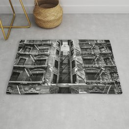 New York fire escapes Rug