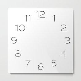 Patricia Gothic Thin clock face Metal Print