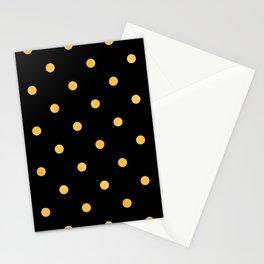 Gold Glitter Large Dot Pattern Stationery Cards