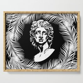 David black and white Serving Tray