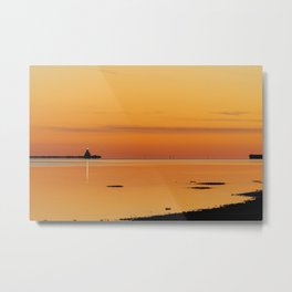 Island Harbour Sunset Metal Print