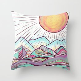 Let's Travel Throw Pillow