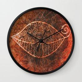 ReLeaf Doodle Burnt Wall Clock