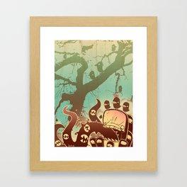 Scary Tree Framed Art Print
