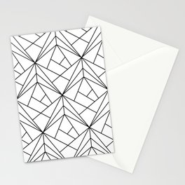 Black and White Geometric Pattern Stationery Cards