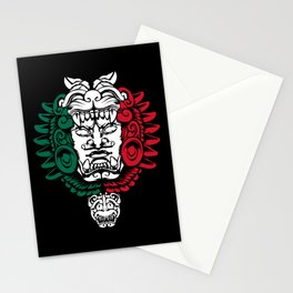 Aztec Ancestor Sculpture - Mexican Warrior - Mexico Roots Stationery Cards