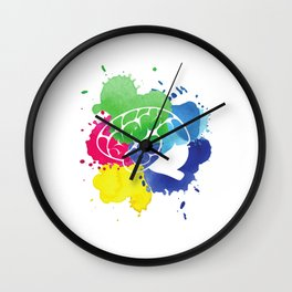 School Psychologist with Brain Wall Clock