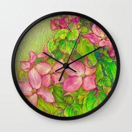 Satomi Dogwood, Pencil Sketch Wall Clock