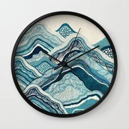 Blue Mountain Hike Wall Clock