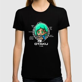 Otaku Type Anime Green T-shirt
