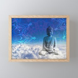Mandala Floating Buddha Framed Mini Art Print