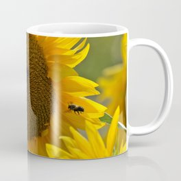 The butterfly the bee and the sunflower Coffee Mug