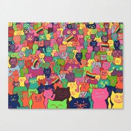 Gay Cat Parade Canvas Print