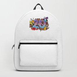 Hiphop Dancer Graffiti Artist Typography 20th Birthday Hip Hop Urban Wall Mural Street Art Backpack