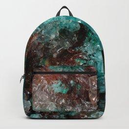 Dark Rust & Teal Quartz Backpack