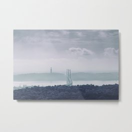 The view from Monsanto. Ponte 25 de Abril. Lisboa, Portugal. Metal Print