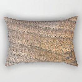Warm Waved Wood Rectangular Pillow