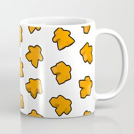 Golden Orange Meeple Mania Texture Coffee Mug