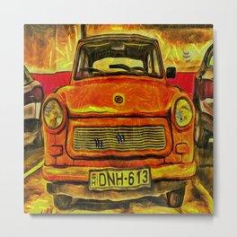 Trabant Van Gogh Metal Print