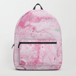 Pink and Mint Marble Backpack